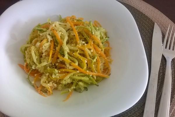 macarrão de cenoura e abobrinha